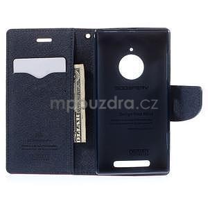 Kožené peňaženkové puzdro na Nokia Lumia 830 - rose - 2