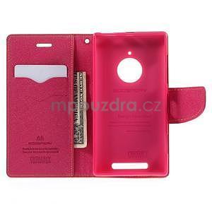 Kožené peňaženkové puzdro na Nokia Lumia 830 - žlté - 2