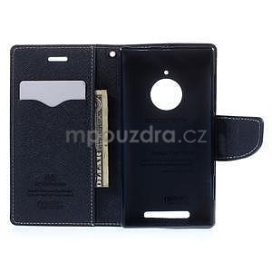 Kožené peňaženkové puzdro na Nokia Lumia 830 - azurové - 2