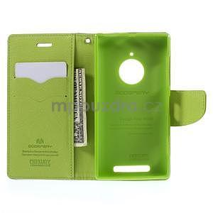 Kožené peňaženkové puzdro na Nokia Lumia 830 - tmavě modré - 2