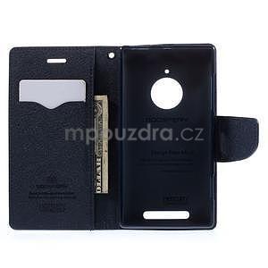 Kožené peňaženkové puzdro na Nokia Lumia 830 - fialové - 2
