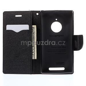 Kožené peňaženkové puzdro na Nokia Lumia 830 - hnedé/čierné - 2