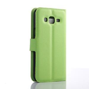Zelené zapínací peněženkové pouzdro na Samsung Galaxy J5 - 2