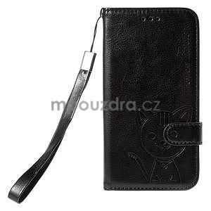 Peněženkové pouzdro s kočičkou Domi na Samsung Galaxy J5 - černé - 2