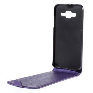 Flipové pouzdro na Samsung Galaxy J5 - fialové - 2