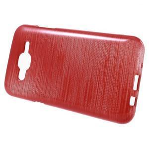 Brúsený gélový obal pre Samsung Galaxy J5 - červený - 2