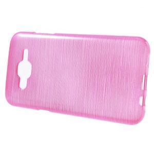 Broušený gelový obal na Samsung Galaxy J5 - rose - 2
