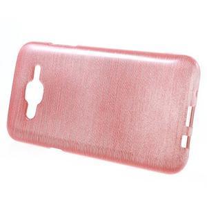Brúsený gélový obal pre Samsung Galaxy J5 - ružový - 2