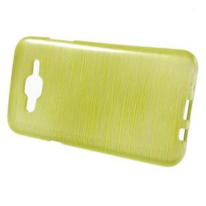 Brúsený gélový obal pre Samsung Galaxy J5 - zelenožltý - 2