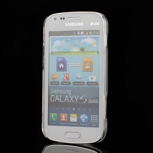 Transparentní plastový obal na Samsung Galaxy S Duos, Trend Plus - 2