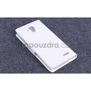 Koženkové puzdro pre mobil Lenovo A536 - biele - 2