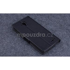 Koženkové puzdro pre mobil Lenovo A536 - čierne - 2