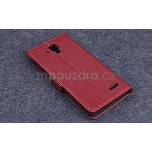 Koženkové puzdro pre mobil Lenovo A536 - hnedé - 2
