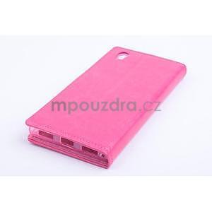 Peňaženkové kožené puzdro na Lenovo P70 - rose - 2