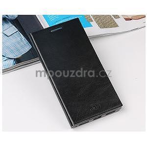 Čierné kožené puzdro na Lenovo P70 - 2