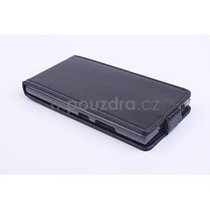 Kožené flipové puzdro pre Lenovo P70 - čierné - 2