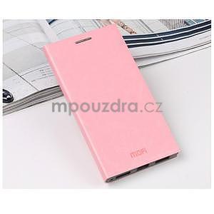 Ružové kožené puzdro pre Lenovo P70 - 2