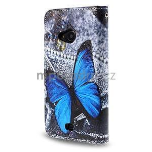 Safety puzdro pre mobil Microsoft Lumia 535 - modrý motýľ - 2