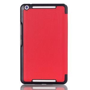 Trifold koženkové puzdro pre Asus Memo Pad 8 ME581C - červené - 2