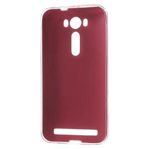 Gélový obal s jemným koženkovým plátem na Asus Zenfone 2 Laser ZE500KL - rose - 2