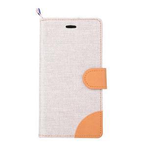 Jeans puzdro pre mobil Asus Zenfone 2 Laser - biele - 2