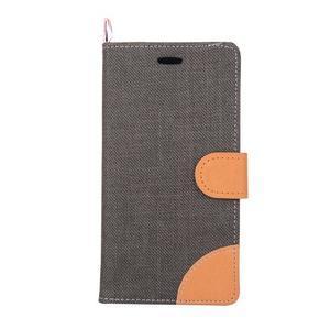 Jeans puzdro pre mobil Asus Zenfone 2 Laser - čierne - 2