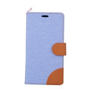 Jeans puzdro na mobil Asus Zenfone 2 Laser - svetlomodré - 2
