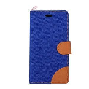 Jeans puzdro na mobil Asus Zenfone 2 Laser - tmavomodré - 2