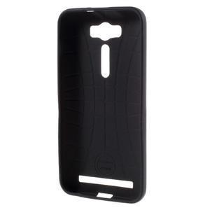 Gélový obal s koženkovým chrbtom pre Asus Zenfone 2 Laser - UK - 2