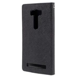 Diary štýlové puzdro na Asus Zenfone 2 Laser - čierne - 2