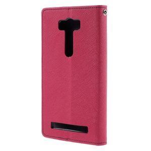 Diary štýlové puzdro pre Asus Zenfone 2 Laser - rose - 2