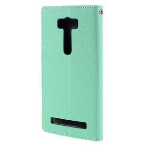 Diary štýlové puzdro na Asus Zenfone 2 Laser - azurové - 2