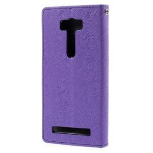 Diary štýlové puzdro na Asus Zenfone 2 Laser - fialové - 2