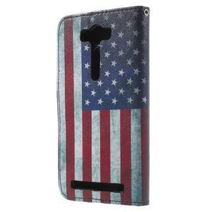 Koženkové puzdro na Asus Zenfone 2 Laser - US vlajka - 2