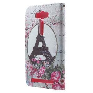 Koženkové puzdro na Asus Zenfone 2 Laser - Eiffelova veža - 2