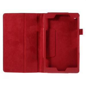 Koženkové puzdro na tablet Asus ZenPad 7.0 Z370CG - červené - 2