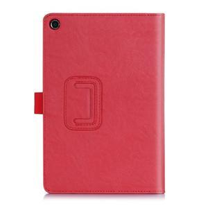 Polohovatelné koženkové puzdro na tablet Asus ZenPad S 8.0 -  červené - 2
