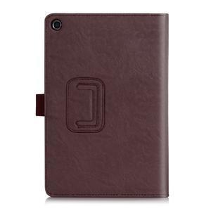 Polohovatelné koženkové puzdro pre tablet Asus ZenPad S 8.0 -  hnedé - 2