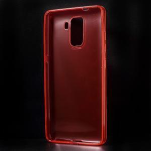 Transparentný gélový obal na telefón Honor 7 - červený - 2