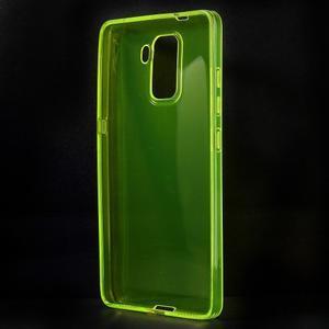 Transparentný gélový obal na telefón Honor 7 - žltý - 2