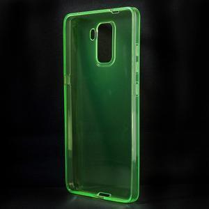 Transparentný gélový obal pre telefón Honor 7 - zelený - 2