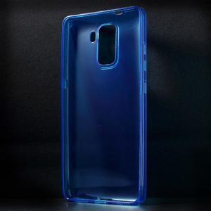 Transparentný gélový obal na telefón Honor 7 - modrý - 2