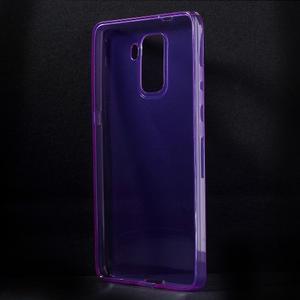 Transparentný gélový obal na telefón Honor 7 - fialový - 2