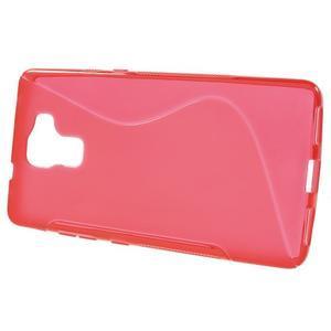 Červený gélový kryt S-line pre Huawei Honor 7 - 2