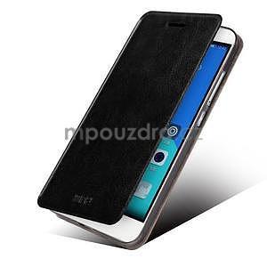 Koženkové puzdro na mobil Honor 7 - čierne - 2