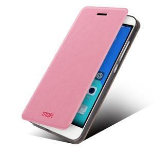 Koženkové puzdro na mobil Honor 7 - ružové - 2