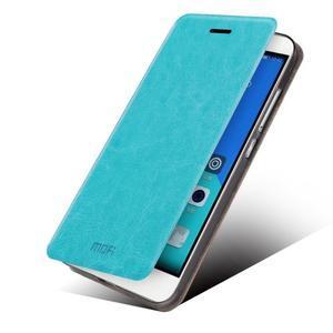 Koženkové puzdro pre mobil Honor 7 - modré - 2