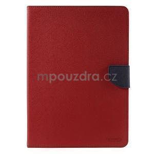 Diary peňaženkové puzdro na iPad Air - červené - 2
