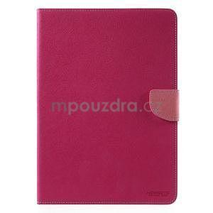 Diary peňaženkové puzdro na iPad Air - rose - 2