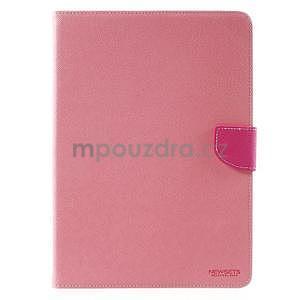 Diary peňaženkové puzdro pre iPad Air - ružové - 2